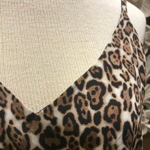 NWT White House Reversible Leopard Print Cami